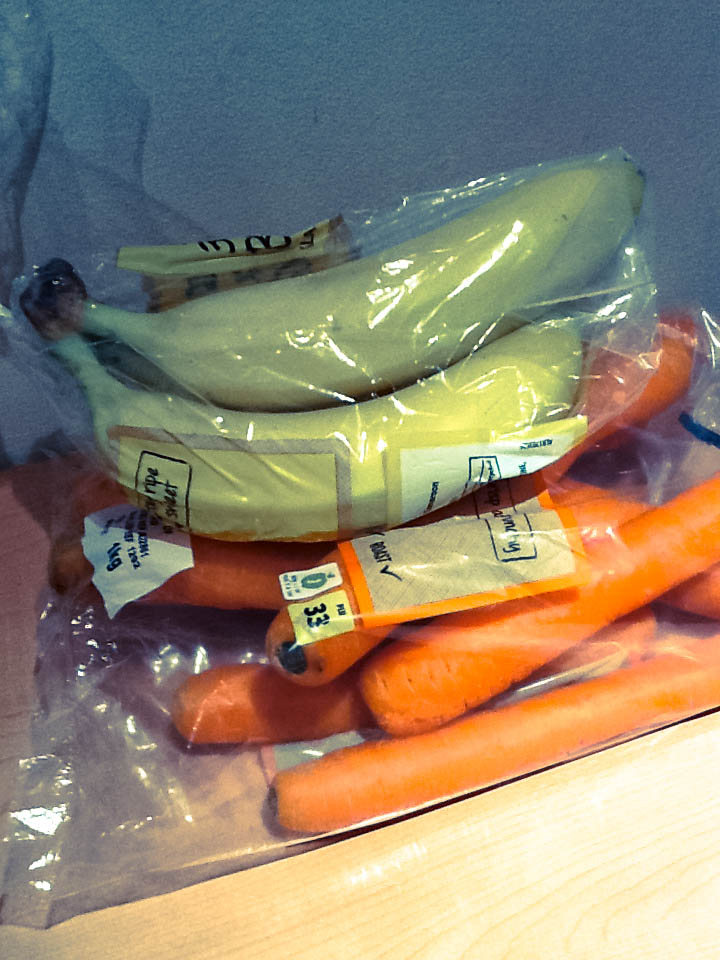 bananas and carrots
