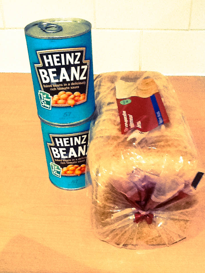 Bread and baked beans